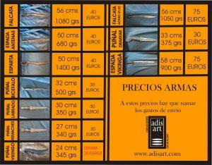 precios armas