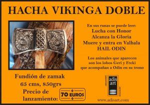 HACHA VIKINGA DOBLE