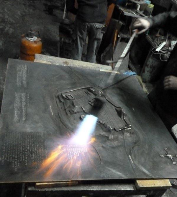 Placa de bronce Cartagena
